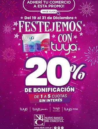 """El NBCH lanzó la promoción """"Festejando con Tuya"""""""