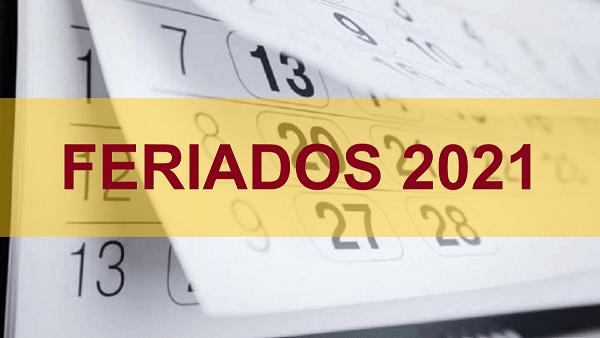 Así será el calendario oficial de feriados para el 2021